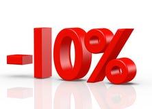 10  Percent red Stock Photos