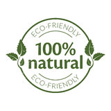 100% natural rubber stamp Royalty Free Stock Photography