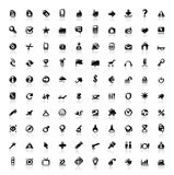 100 perfect icons Stock Image