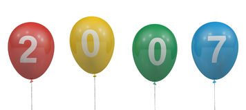 2007 balloons Royalty Free Stock Images