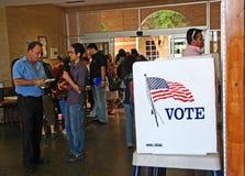 2008 Presidentiële de stemmingsdag van de V.S. in grensstad Stock Afbeelding