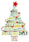 2013 xmas tree Royalty Free Stock Photography