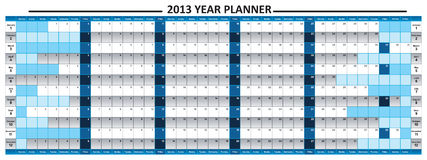 2013 Year Planner Royalty Free Stock Photography