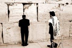 西部祷告的墙壁 免版税图库摄影