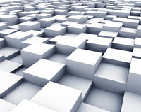 3D cubes surface Royalty Free Stock Photography