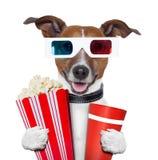 3d glasses movie popcorn dog Royalty Free Stock Photo