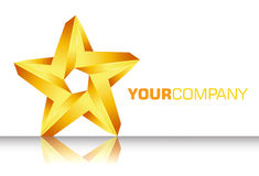 3D gold star logo Stock Photo