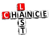 3D Last Chance Crossword Stock Image