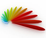 3D logo color Royalty Free Stock Images