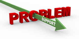 3d problem and support Royalty Free Stock Image