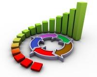 3d progress flow chart Stock Photography
