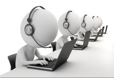 3d small people - call center Royalty Free Stock Photo