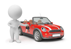 3d small people - car keys Royalty Free Stock Image