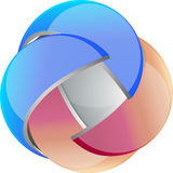 3D vector orb Stock Photography