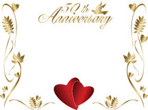 50th wedding anniversary border Royalty Free Stock Photo