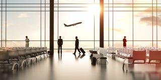 Aéroport avec des personnes Images stock