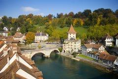 Aare River, Bern Switzerland Stock Photo