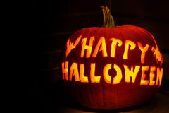 Abóbora feliz da lanterna de Halloween Jack O Imagens de Stock Royalty Free