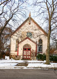 Abandoned church on winter day Royalty Free Stock Image