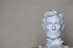 Abe Lincoln Head on Right Stock Images
