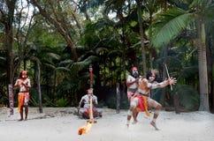 Aboriginal culture show in Queensland Australia Stock Photos