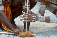 Aboriginal culture show in Queensland Australia Royalty Free Stock Photos