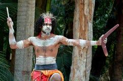 Aboriginal culture show in Queensland Australia Royalty Free Stock Image