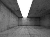 Abstract architecture background, empty concrete room Stock Photo