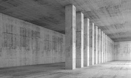 Abstract architecture background, empty interior Royalty Free Stock Image