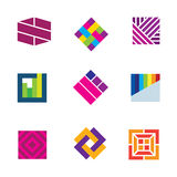 Abstract art logo template symbol be different decoration icon Stock Photos