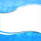 Abstract background blue wave curve and lighting element vector Royalty Free Stock Photos