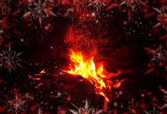 Abstract background. Christmas bonfire, fireplace Royalty Free Stock Images