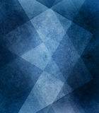 Abstract blue background white striped pattern and blocks in diagonal lines with vintage blue texture Royalty Free Stock Photo