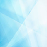 Abstract blue background with white triangle shapes and blur Stock Image