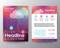 Abstract Brochure Flyer design Layout vector template Royalty Free Stock Photos