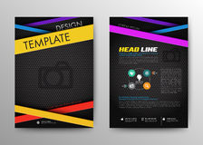 Abstract Brochure Flyer design vector template in A4 size. Stock Image