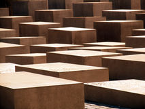 Abstract cement cubes Stock Images