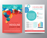 Abstract Circle design Brochure Flyer Layout template Stock Photos