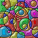 Abstract colorful background. Geometric shapes. Royalty Free Stock Photos