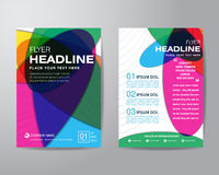Abstract colorful brochure flyer design layout template in A4 si Royalty Free Stock Image