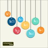 Abstract colorful Flow chart infographic elements Royalty Free Stock Photos