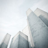 Abstract concrete model of a city Royalty Free Stock Photography