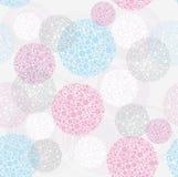 Abstract cute seamless polka dot circle background Royalty Free Stock Images