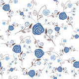 Abstract Elegance Seamless pattern with floral bac Royalty Free Stock Photos