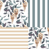Abstract elegance seamless pattern with glicinia flowers backgro Royalty Free Stock Photos
