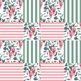 Abstract elegance seamless pattern glicinia flowers background Stock Image