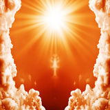 Abstract explosion of energy Royalty Free Stock Photography