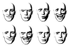 Abstract Facial Expressions Man Royalty Free Stock Photography