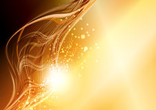Abstract fantasy gold background Stock Images