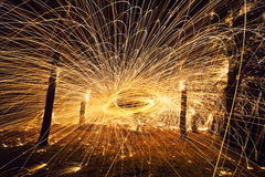 Abstract fire orb Royalty Free Stock Images